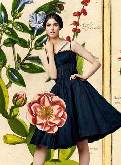 Dolce & Gabbana SS 2014 l A beautiful #botanical lookbook for a beautiful collection (IV) ♥ l #fashion #illustration