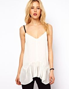 ASOS Cami with Drop Waist and Elastic Straps