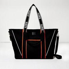 RI Active black neon trim gym handbag - shoppers / tote bags - bags / purses - women