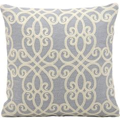 Bring a pop of style to your sofa or favorite reading nook with this lovely pillow, featuring scrolling details for charming appeal.   ...