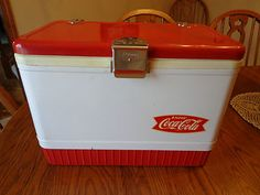 1950s Vintage Cola Cooler Poloron Products Inc Fiberglass Insulated NY PA
