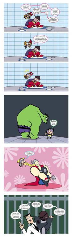 avengers and the powerpuff girls