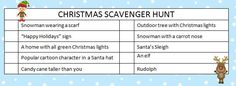 Christmas Scavenger Hunt - free printable game perfect for kids to play while running holiday errands. or use idea with Christmas story items on list Christmas Scavenger Hunt, Christmas Games, Christmas Activities, Christmas Printables, Green Christmas Lights, Christmas Love, Winter Christmas, Christmas Ideas, Holiday Signs