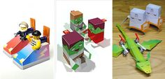 PAPERMAU: A Lot Of Easy-To-Build Paper Toys - by The Crafty Robot