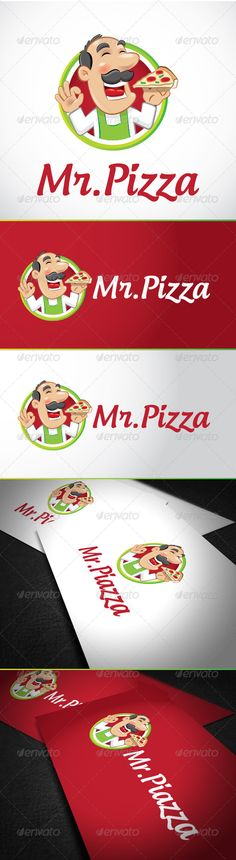 Mr Pizza Logo Template  #GraphicRiver         Easy to edit with organized layers. Vector logo Resisable; Vector Horizontal and Vertical display; Symbol files high resolution; Some color variation vector;   the Font is not included, is for reference only.   Androgyne   .dafont /es/androgyne-tb.font  If you receive the following message:   This file contains text That was created in a previous version of Illestator. This legacy text must be updated before you can edit it.   You should…