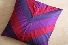 chevron pillow. must buy cheap pillows from goodwill/habitat, instead of the expensive new ones from joann's. they can be re-stuffed if needed.