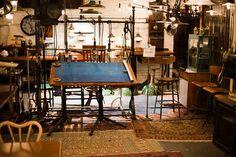vintage antique store interior