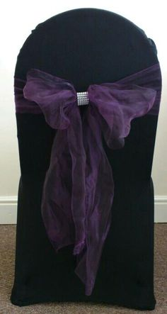 Purple With Bling - Chair Cover - By Vikki - At Sapphire Bespoke Events, 59 Poulton Road, Wallasey, Wirral