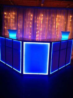 LED Bar. LED Ice Buckets. Strobe Lights. Light Curtain. Ice Blue. LED Lights.