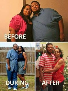 Inspiring weight loss before and after photo.