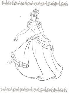 baby princess cinderella coloring pages - photo#25