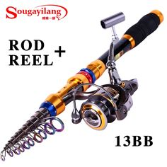 (36.21$)  Watch here - http://aibai.worlditems.win/all/product.php?id=32376141493 - Sougayilang Low Profit 1.8-3.6M Telescopic Spinning Fishing Rod And 13BB Fishing Reel Carbon Fishing Rod Set Fishing Tackle Kit