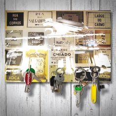 Schlüsselbrett magnetisch / magnetic Keyholder - Strassen von Lissabon / Ruas de Lisboa / Streets of Lisbon  Format: 18x12cm  Handgemacht / Handmade   gemacht mit ♡ in köln!