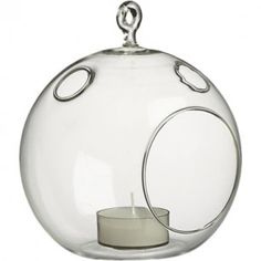 Hanging Clear Glass Candle Holder