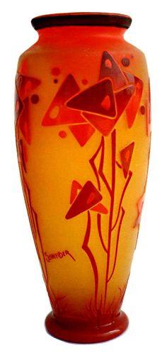 Schneider Glassware   Schneider Glass Bowl & Vases
