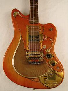 Strobotac electric guitar detail photos & story by Tony Cochran Guitars for sale
