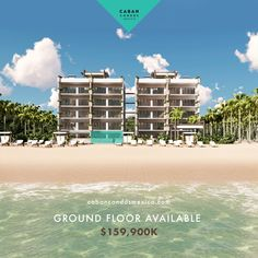 Do you want to walk right out from your ocean front condo directly to the pool & beach?  If so, we have the perfect ground floor condo available for you!  3 bedroom over 1640 sq ft with 10 ft ceilings and your choice of all finishing items INC Quartz countertops.   Offering fully refundable deposits. It's not for everyone... but it could be for you!  #yucatan #realestate #cancun #property #oilgas #construction #meridayucatan #design #condo #beach Beach Village, Ocean Front Property, Living In Mexico, Beach Properties, Rooftop Terrace, Beach Condo, Us Beaches, White Sand Beach, Pent House