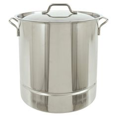 Bayou Classic Stainless Tri-Ply Stockpot - 32 Qt.