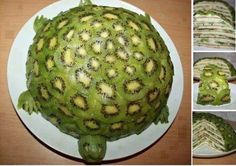 MYO Turtle Kiwi Cake (Fruit!) This healthy treat is fantastic for Summer Gatherings.