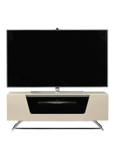 Alphason Chromium TV Stand - fits up to 50 inch TV - Ivory | very.co.uk