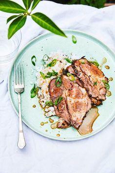 Rind, Steak, Pork, Honey, Pigs, Roasts, Food Food, Kale Stir Fry, Pork Chops