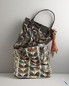I love Orla Kiely bags. The classic stem print is my favorite.