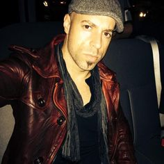 """Bought it in Venice mths ago. Happens to work well w/ """"Waiting For Superman"""""""" Waiting For Superman, Chris Daughtry, Mr D, Man Alive, Gorgeous Men, My Music, Leather Jacket, Singer, My Love"""