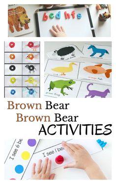 Fun and hands-on Brown Bear, Brown Bear activities to do with preschoolers and kindergarteners after reading the classic book, Brown Bear, Brown Bear, What Do You See? via @growingbbb