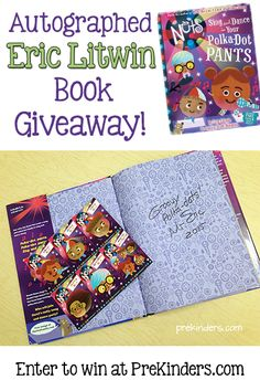 Eric Litwin Dance Contest and Book Giveaway. Enter for a chance to win an autographed copy of Eric Litwin's new book, Sing and Dance in Your Polka Dot Pants
