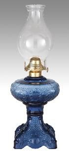 Princess Feather Oil Lamps Complete with Burner and Chimney | Antique Lamp Supply