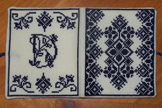 Cross-stitch needle book I made.  Front & Back cover