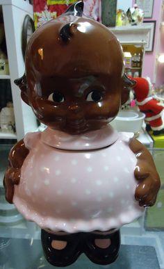 Black Americana Kewpie Doll Cookie Jar.
