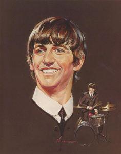 Portrait Painting of Ringo Starr The Beatles 1960, Beatles Band, John Lennon Beatles, Richard Starkey, John Lennon Paul Mccartney, Best Rock Bands, Beatles Photos, The Fab Four, Lonely Heart