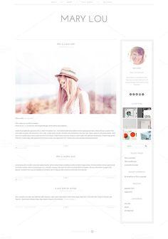 Check out Mary Lou- Clean WordPress Theme by Mlekoshi Playground on Creative Market