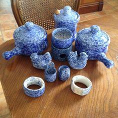 Collection Blue Sponge Ware