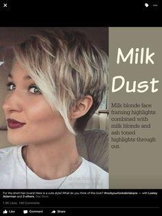 Short hair- highlights- long Pixie