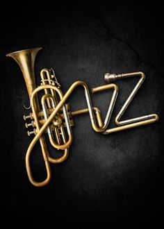 """Fitzgerald himself called the Roaring Twenties """"The Jazz Age."""" He used Jazz in his novel. Jazz was a big part of the Many instruments are used to make Jazz and it is shown in the novel. Arte Jazz, Jazz Art, Lettering, Typography Design, Creative Typography, Poster Jazz, Inspiration Typographie, Instruments, Jazz Club"""
