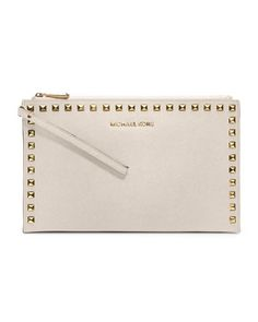 MICHAEL Michael Kors Large Selma Studded Saffiano Clutch. And this one.