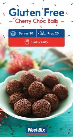 Gluten-free cherry choc balls are the perfect gluten-free addition at Christmas and other special celebrations. Click to get the full recipe.