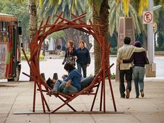 Many things shape the face of a city: buildings, bridges, parks, sculptures. even benches! That's right, this simple form of public furniture can also . City Furniture, Urban Furniture, Street Furniture, Ikea Furniture, Furniture Sale, Online Furniture, Furniture Dolly, Furniture Movers, Discount Furniture