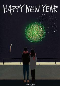 煙花 happy new year gif Happy New Year Animation, Happy New Year Gif, Christmas Art, Christmas And New Year, Corazones Gif, Fireworks Gif, Gif Photo, Aesthetic Gif, Nouvel An