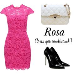 """Rosa"" by gessilene-ferreira on Polyvore"
