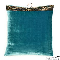 Silk Velvet Pillow Teal 20x20