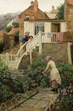 Watering The Garden ~ Charles Hedley