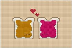 There are just some things in life that are meant to be together and peanut butter and jam are it! Quick and easy to stitch pattern suitable to