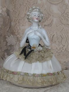 Antique Half Doll / Pin Cushion Doll