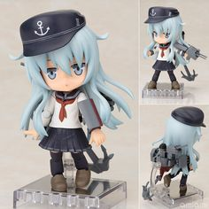 AmiAmi [Character & Hobby Shop] | Cu-poche - Kantai Collection -Kan Colle- Hibiki Posable Figure(Pre-order)