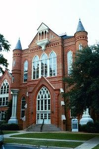 Clark Hall, depicts the Gothic-Revival  University of Alabama (my favorite building on campus by far!)