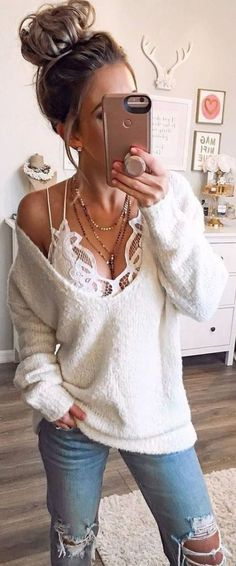 winter outfits vrouw Stylish Superb Winter Out - winteroutfits Mode Outfits, Night Outfits, Casual Outfits, Fashion Outfits, Fashion Ideas, Fashion Clothes, Girly Outfits, Jeans Outfits, Date Night Clothes