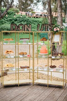 From Vintage To Modern Wedding Dessert Table Ideas ❤ See more: http://www.weddingforward.com/wedding-dessert-table-ideas-vintage-modern/ #weddingforward #bride #bridal #wedding